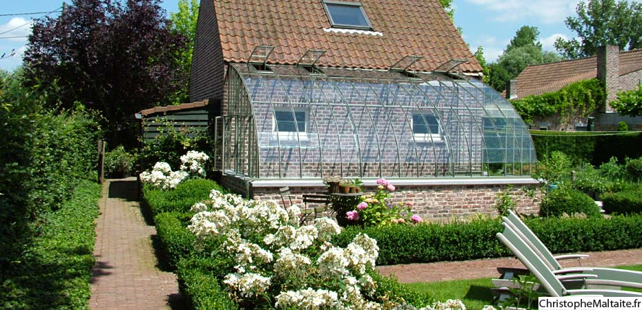 Serre de jardin adossee au mur galerie des id es de - Serre de jardin adossee au mur ...