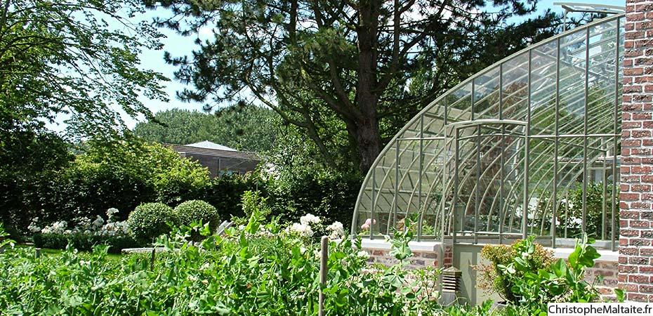 Serre de jardin calendula - Serre de jardin adossee au mur ...
